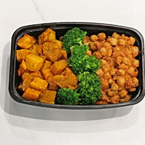 Vegan/Vegetarian: African chick peas with roasted butternut squash