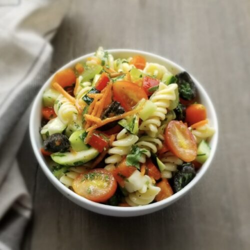 Vegan: pasta salad