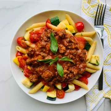 Beef and vegetable bolognese