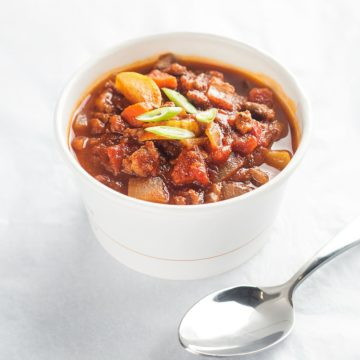 soup: Smoky beef chili