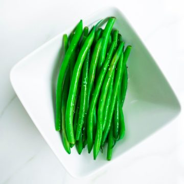 Steam French green beans