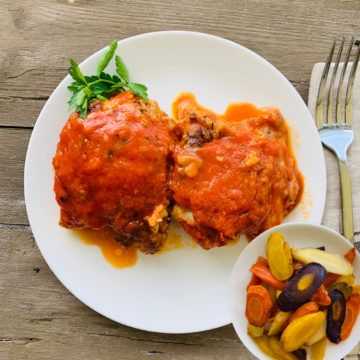 Italian braised chicken w/ roasted carrot