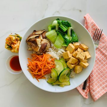 Vegan/Vegetarian: Korean bibimbap bowl