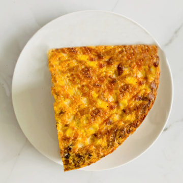 Breakfast:  Potato bacon cheddar frittata