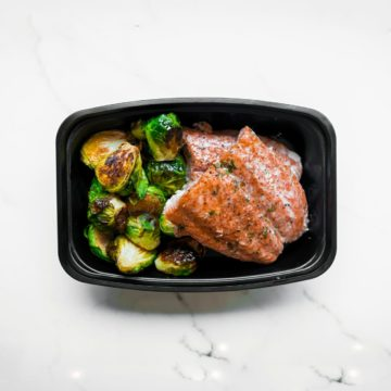 Salmon and brussel sprouts