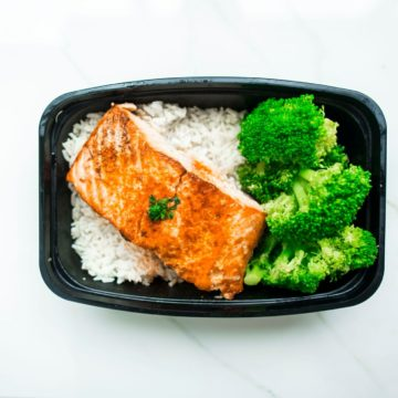 Orange soy glazed salmon with Broccoli