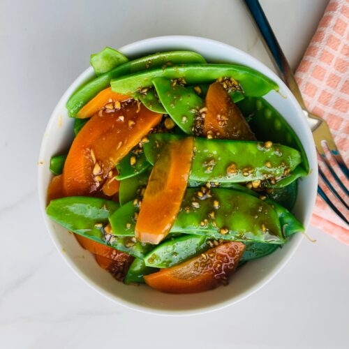 Snow peas and carrot