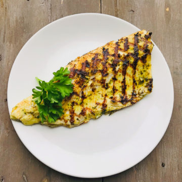 Grilled Haitian Style Spanish Mackerel