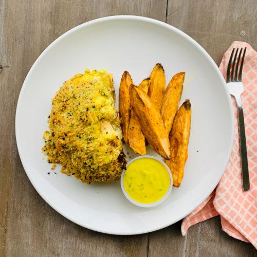 Vegan: Tahini roasted cauliflower wedges