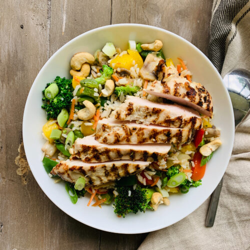 Thai chicken and pineapple fried rice