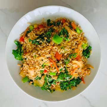 Vegan/Vegetarian: vegetable fried rice