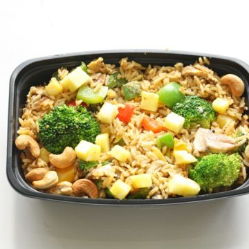 Vegan/vegetarian: Pineapple fried rice