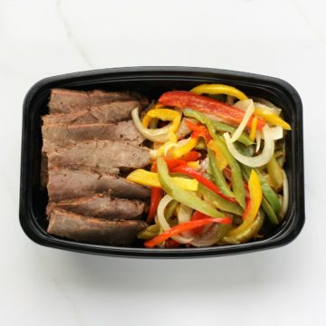 flank steak and pepper
