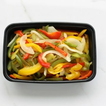 Sauteed pepper and onion