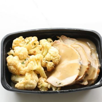 Herb pork Loin with smoked cauliflower
