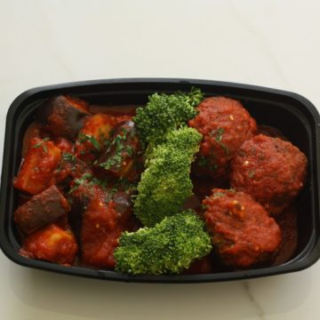 Turkey meatballs with eggplant